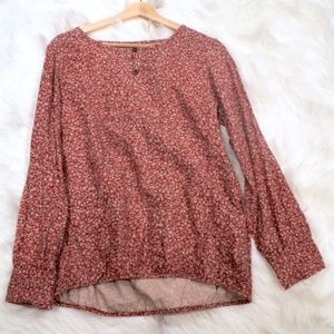 Boho 100% Cotton Floral Long Sleeve India Shirt S